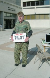Peter poses with his drone, as the Pilot
