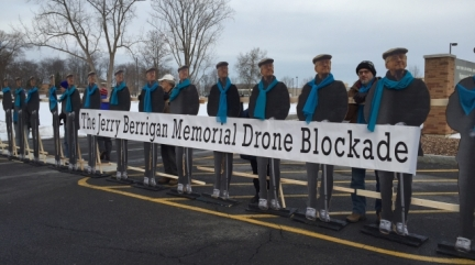 Jerry Berrigan Blockade at Front Gate of Hancock Base