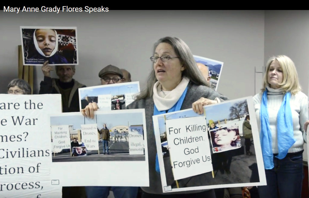 Mary Anne Grady Flores Speaking at her Press Conference