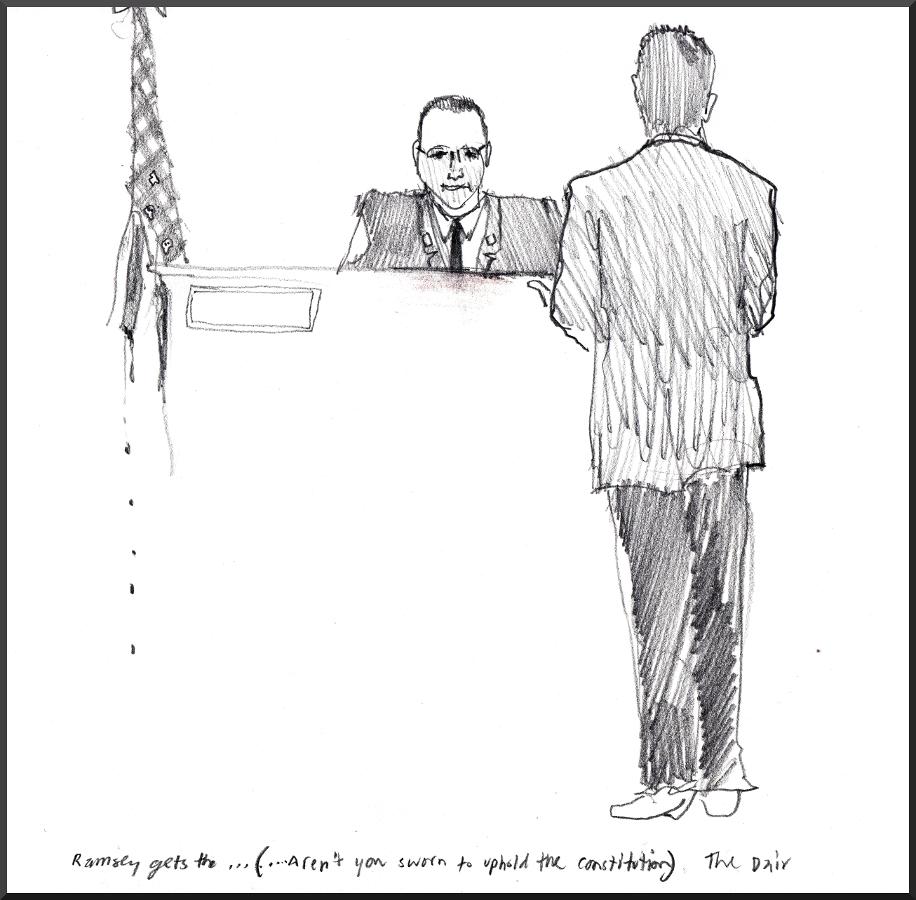 Daire Irwin Cross Examines Chief Ramsey